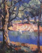 malevich_river_in_the_forest_c1908-or-1928 - Малевич
