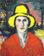 malevich_woman_with_yellow_hat_dated-1908 - Малевич