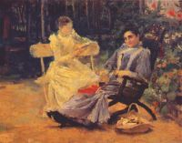 pasternak_two_women_in_a_garden_near_odessa - Пастернак