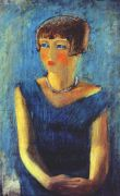 pakhomov_young_girl_in_blue_1929 - Пахомов