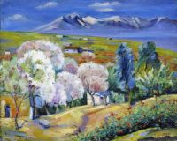 1947 Armenia, Spring in Norke. Oil on canvas. 58x73 - Сарьян