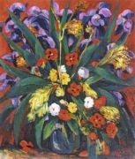 1947 Still Life with Irises and Poppies. Oil on canvas. 55x65 - Сарьян