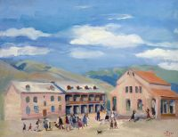 1948 Kirovakan Village. Oil on canvas, 55x70 - Сарьян
