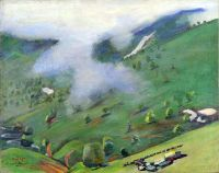 1949 View of the Gorge from the Pushkin Pass. Oil on canvas, 55x70 - Сарьян