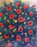1953 Still Life with Poppies. Oil on canvas. 60x50 - Сарьян