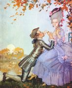 somov_a_youth_on_his_knees_in_front_of_a_lady_1916 - Сомов