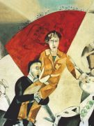 chagall_detail_1,_introduction_to_the_jewish_theater_1920 - Шагал